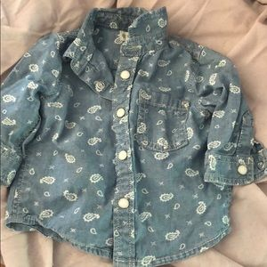 Gymboree button down denim shirt